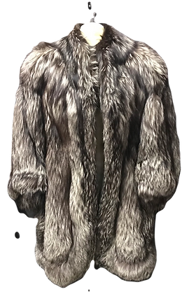 Vintage Three Quarter Cut Fox Fur Jacket