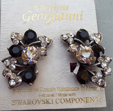 Creations Georgianni Floral Clip-on Earrings