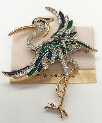 D'Orlan Flamingo Large Brooch Pin