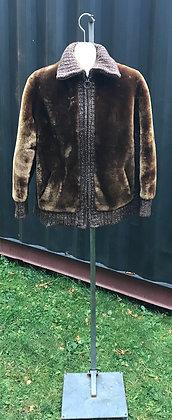 Vintage Brown Mouton Fur Jacket