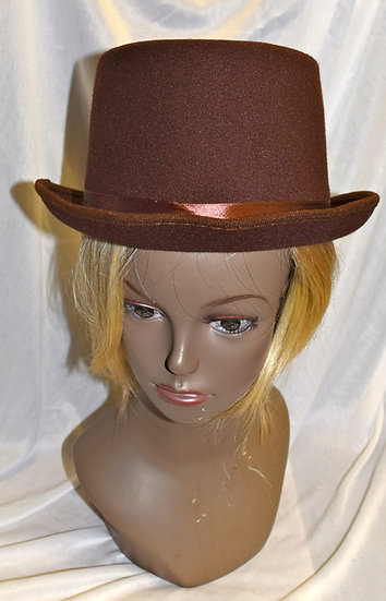 Brown Costume Top Hat