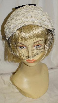 Vintage Beige Lace Fancy Summer Headband Hat