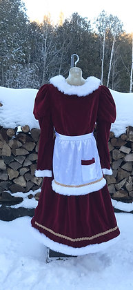 Vintage Mrs. Claus Classic Velvet - Medium / Large Size 8-14