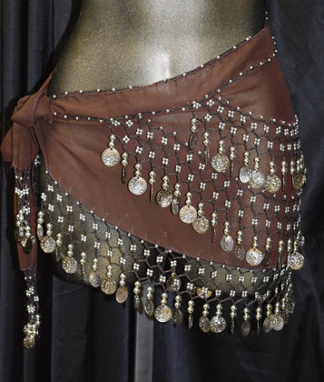 Belly Dancing Coin Wrap Brown