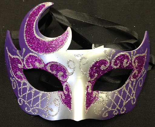 Fancy Purple and Silver Masquerade Mask