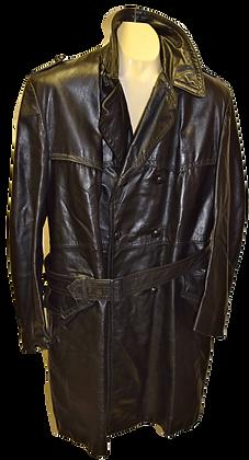 Men's Vintage Reliable Leather Black Coat