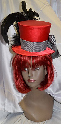 Fancy Miniaiture Top Hat Red