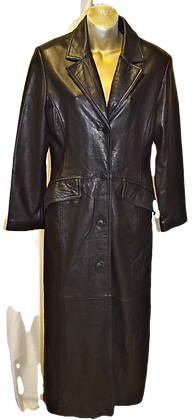 Women's Vintage Danier Canada Black Long Coat