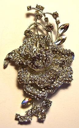Large Rose Brooch Pin