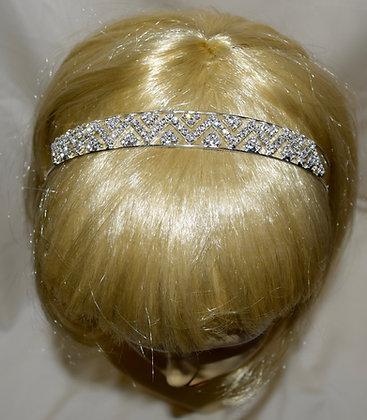 Bridal Headband with CleaRhinestones