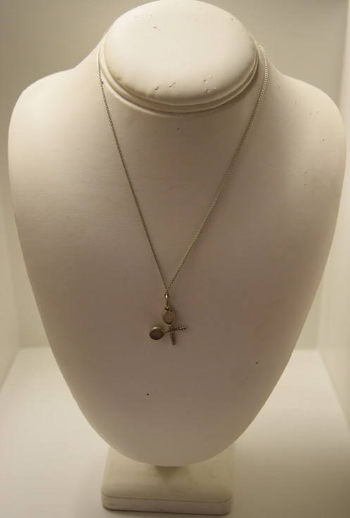 22b45190c This authentic vintage Tiffany & Co. tennis rackets pendant with 16