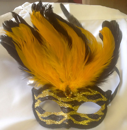 Sparkle and Feathers Masquerade Mask