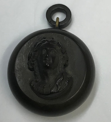Antique Gutta Percha Cameo Locket