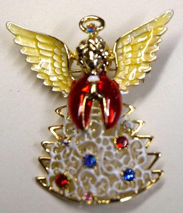 Christmas Angel Brooch Pin