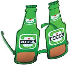 St. Patrick's Beer Bottle Glasses Green