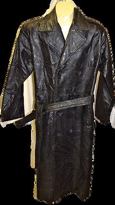 Men's Vintage Italian Stone Design Black Coat