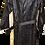 Thumbnail: Men's Vintage Italian Stone Design Black Coat