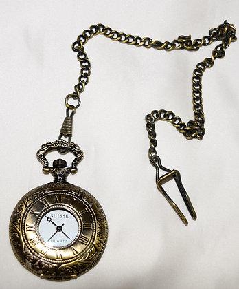 Classic Style Pocket Watch Bronze Colour