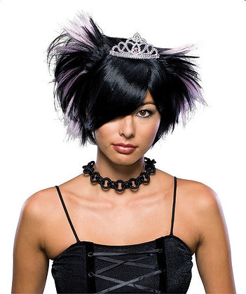 EMO Princes with Tiara Theatrical Wig