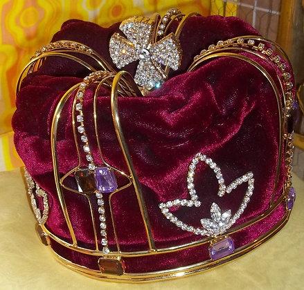 Red Velvet Jeweled Kings Crown
