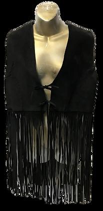 Vintage Learsi Black Suede with Fringe Vest
