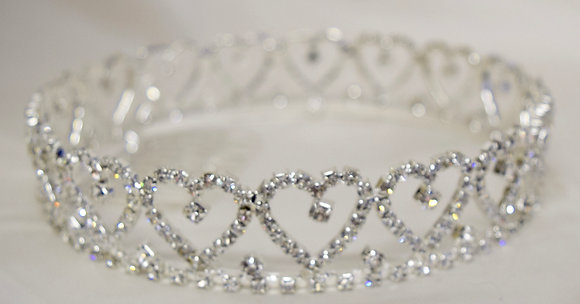 Heart Rhinestone Fancy Design Crown