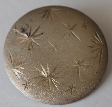 Antique Round Sterling Brooch Pin