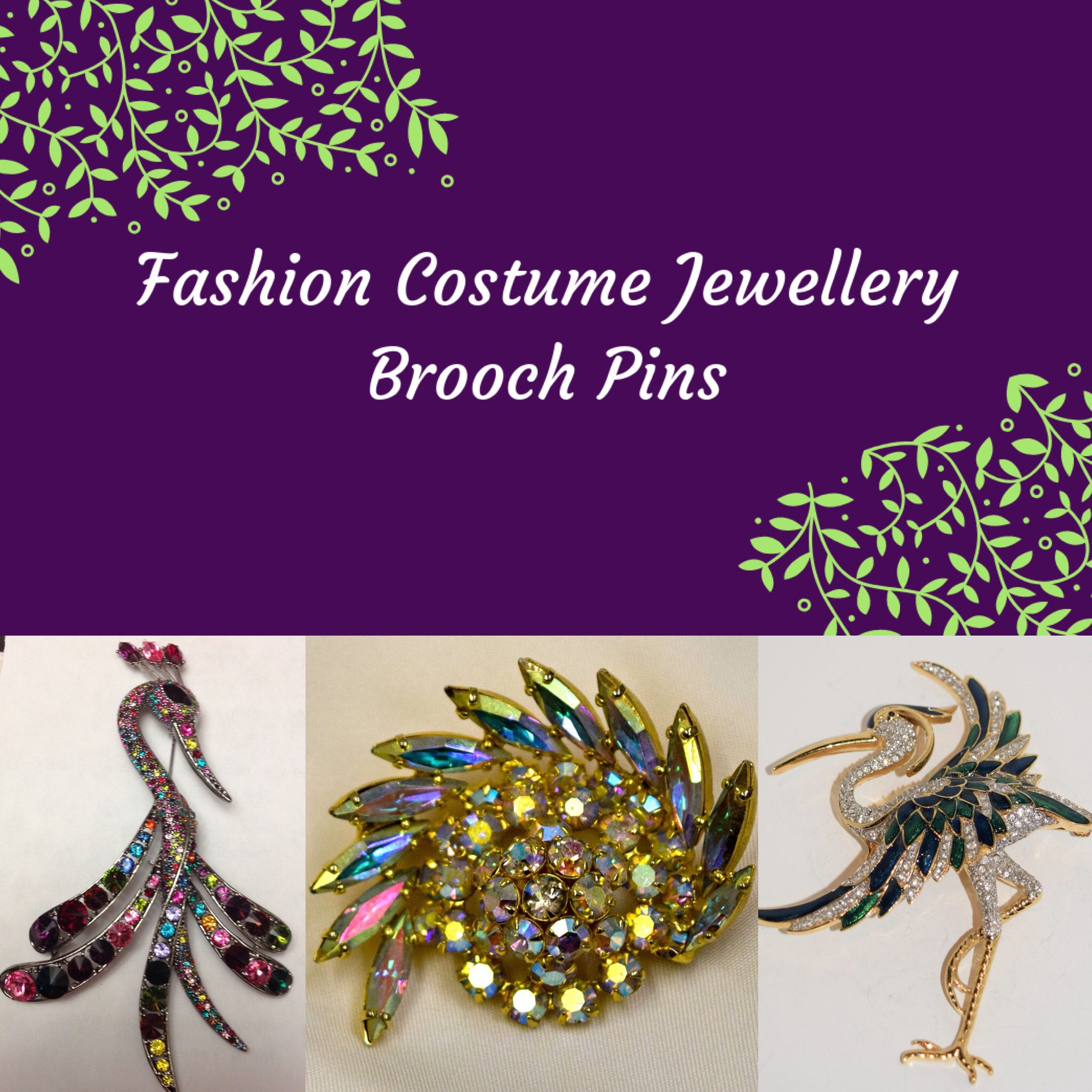Fashion Costume Brooch Pins