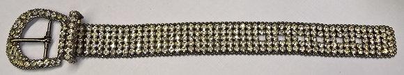 Belt Style Costume Rhinestone Bracelet