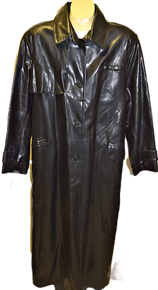 Men's Vintage Apropos Faux Leather Black Coat