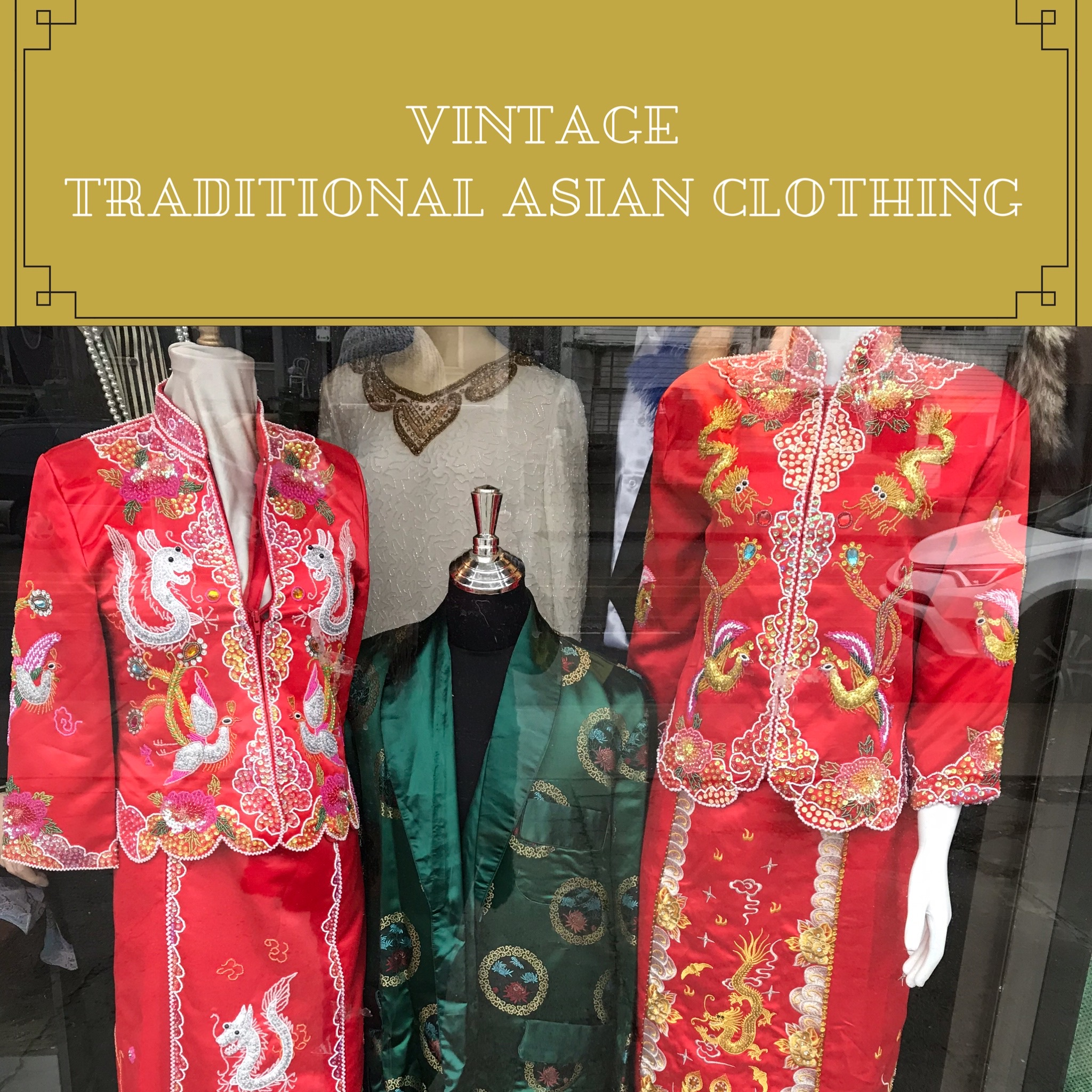 Vintage Traditional Asian Clothing