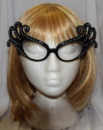 Black Dame Edna Costume Glasses