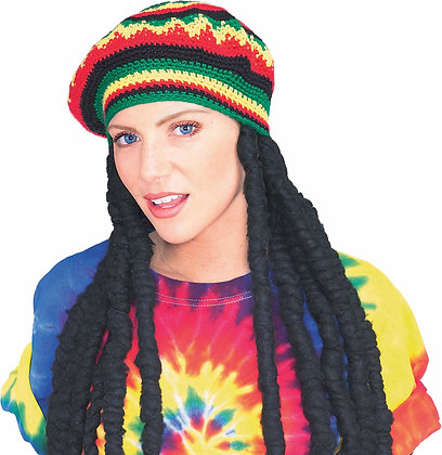 Rasta Theatrical Wig with Cap
