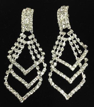 Deluxe Chandelier Drop Clip-on Earrings
