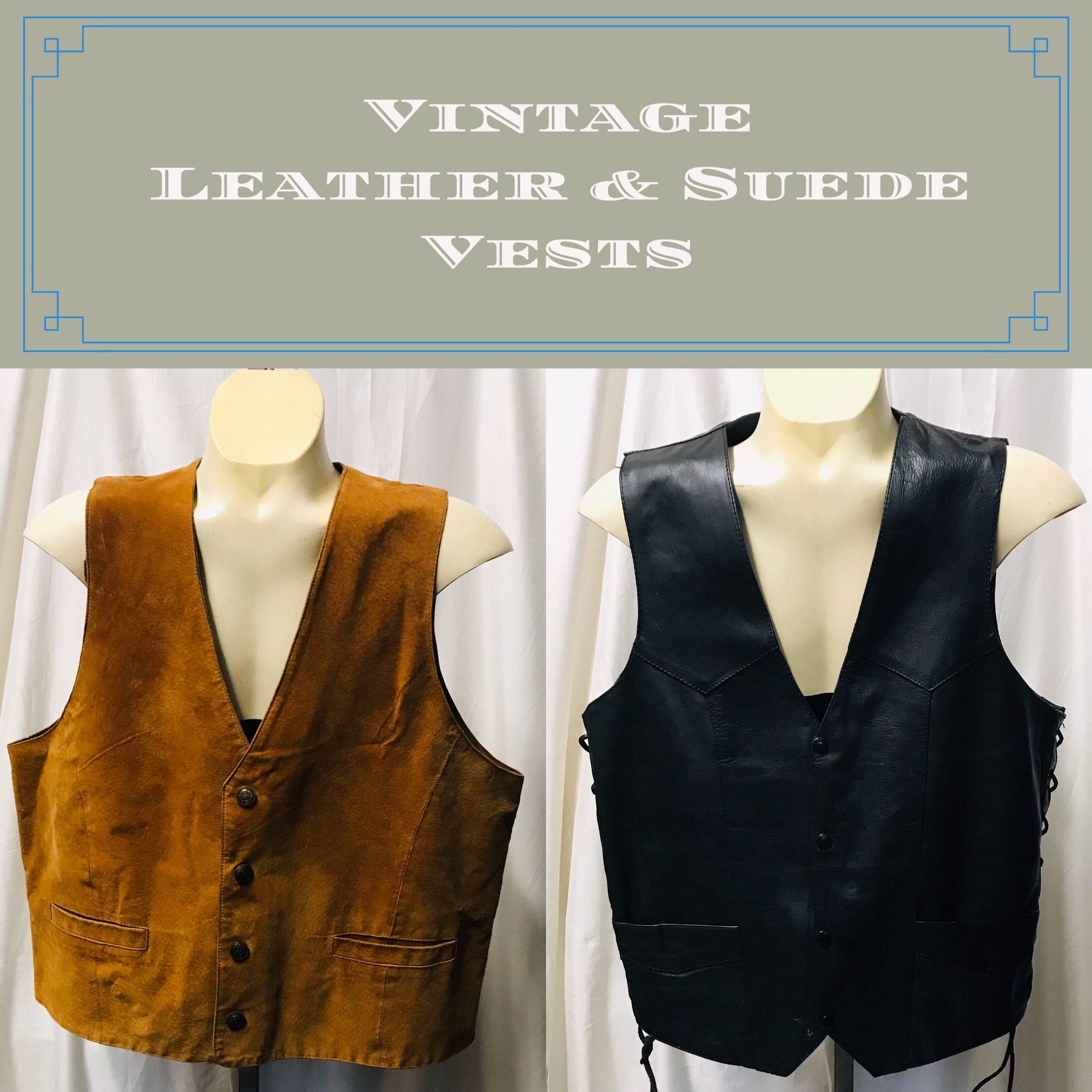 Vintage Leather & Suede Vests