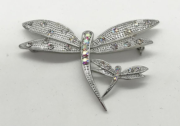 Pair of Dragonfly's Brooch Pin Clear