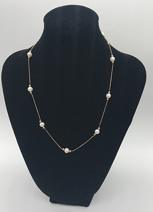 14k Yellow Gold with Pearls Necklace
