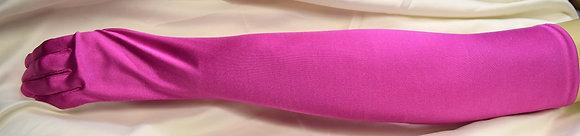 Ladies Evening Opera Gloves Hot Pink