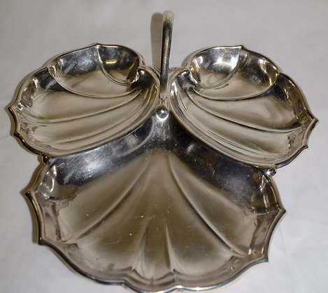 Antique W Sterling Leaf Style Candy Tray