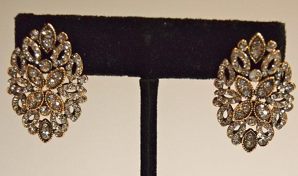 Fancy Costume Pierced Earrings Gold Colour