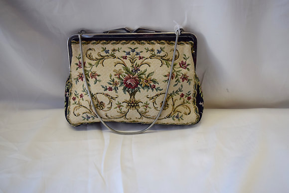 Vintage Small Simpson's Needlepoint Purse with Floral Design