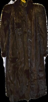 Vintage The Fur Gallery Dark Choc Mink Fur Coat Size Large