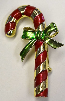 Vintage Gerry's Christmas Candy Cane Brooch Pin