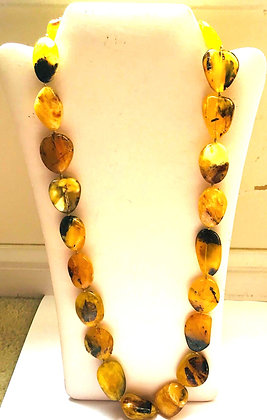 Natural Butter Baltic Amber Beaded Necklace