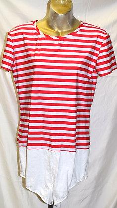 Adult Vintage Striped Dancewear Body Suit XXL