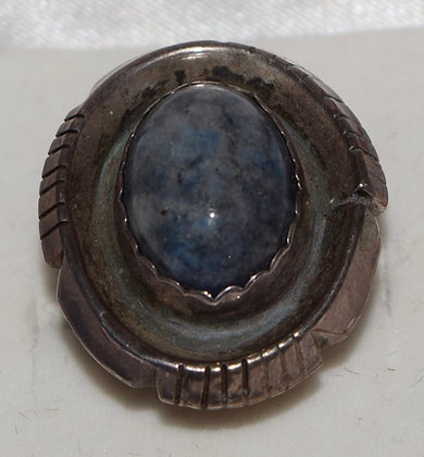 Vintage Lapis Lazuli & Silver Ring Size 7 1/4