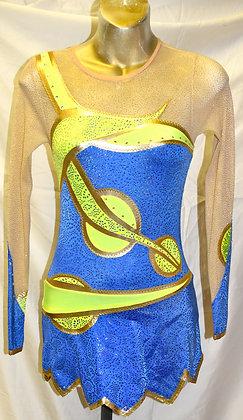 Child Kats Dancewear Blue & Yellow C14