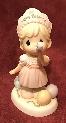 Precious Moments Figurine Wishing You A Year Filled With Birthday Cheer