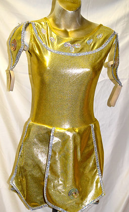 Adult Vintage Gold Metallic Dancewear Small