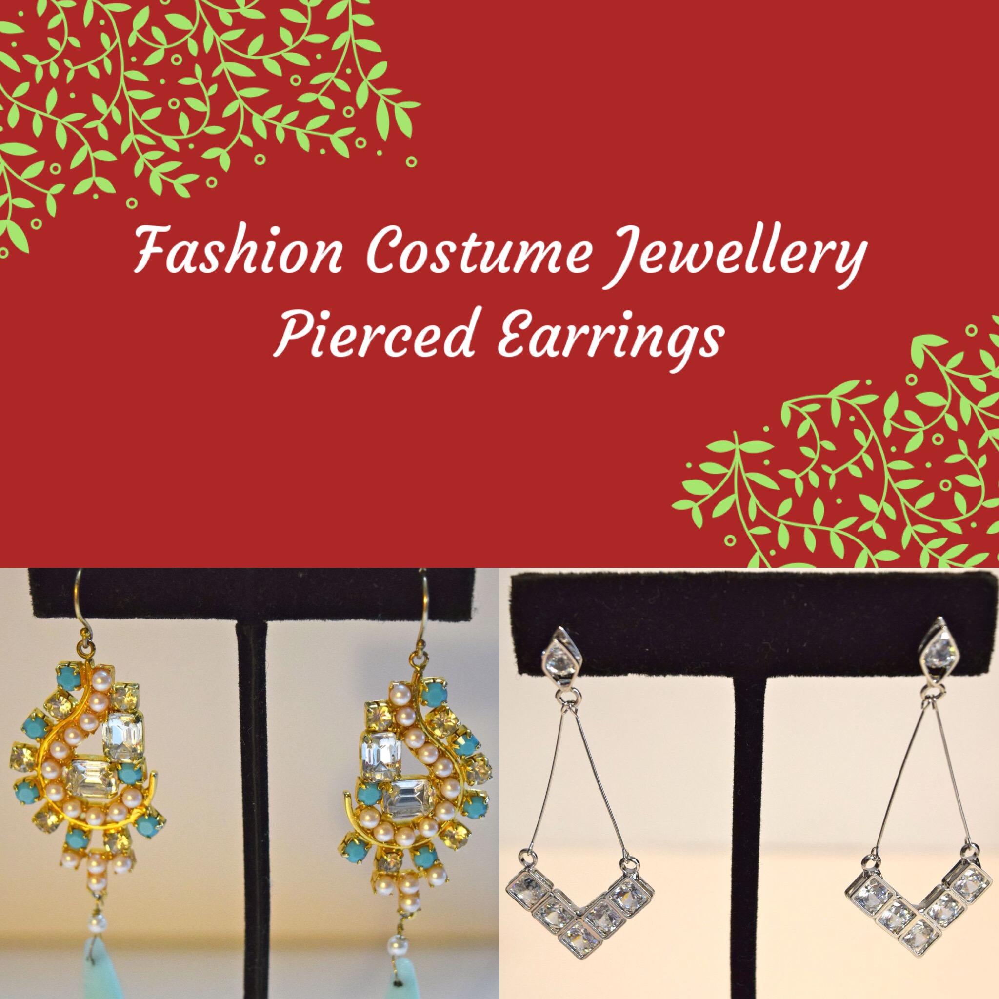 Fashion Costume Pierced Earrings